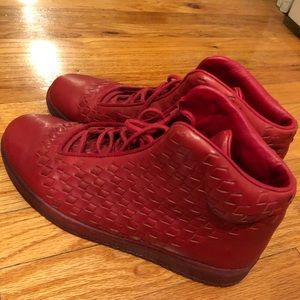 Nike Jordan's Shine in red. Lightly worn.
